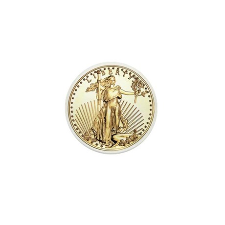 The Liberty Gold Coin Mini Button