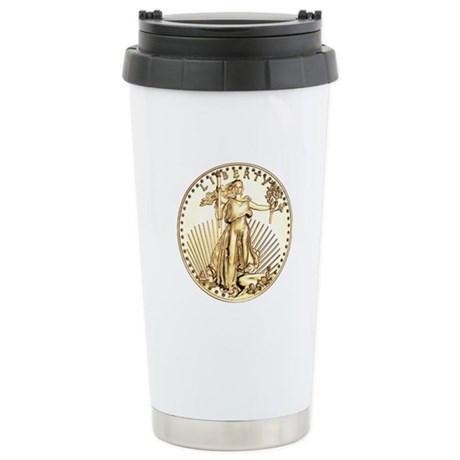 The Liberty Gold Coin Stainless Steel Travel Mug