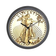 The Liberty Gold Coin Wall Clock