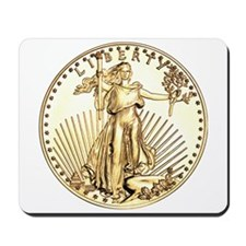 The Liberty Gold Coin Mousepad