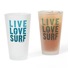 Live Love Surf - Drinking Glass