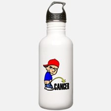 Piss On Cancer -- Cancer Awareness Sports Water Bottle