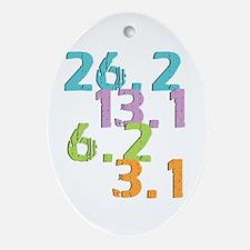 runner distances Ornament (Oval)