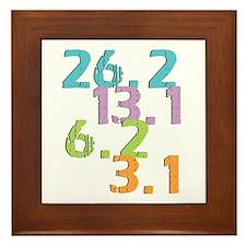 runner distances Framed Tile