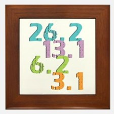 runner distances Framed Tile