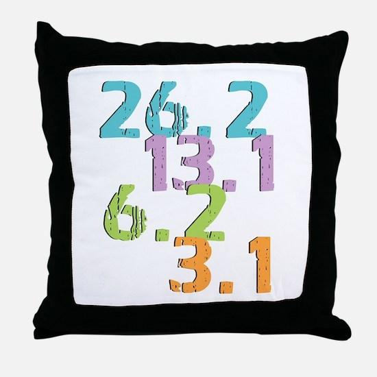 runner distances Throw Pillow