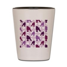 Purple Poodle Polka Dot Shot Glass
