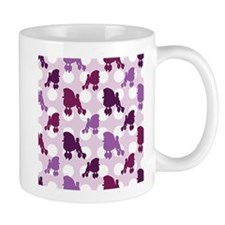 Purple Poodle Polka Dot Small Mug