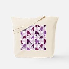 Purple Poodle Polka Dot Tote Bag