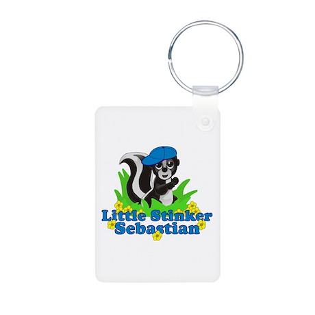Little Stinker Sebastian Aluminum Photo Keychain
