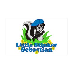Little Stinker Sebastian 38.5 x 24.5 Wall Peel