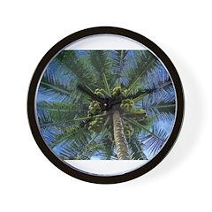 Coconut Palm Wall Clock
