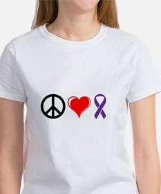 Peace, Love, Awareness Women's T-Shirt