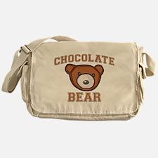 Chocolate Bear Canvas Messenger Bag