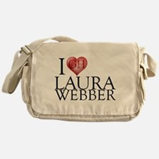 I Heart Laura Webber Canvas Messenger Bag