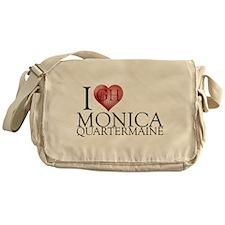 I Heart Monica Quartermaine Canvas Messenger Bag