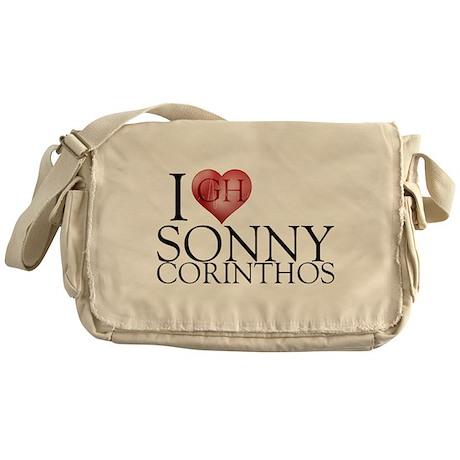 I Heart Sonny Corinthos Canvas Messenger Bag