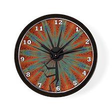 Spiral Kokopelli Wall Clock