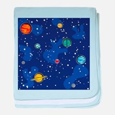 Our Solar System baby blanket