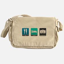 Eat, Sleep, Photography Canvas Messenger Bag