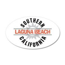 Laguna Beach California 22x14 Oval Wall Peel