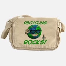 Recycling Rocks! Canvas Messenger Bag