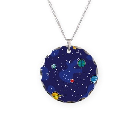 Our Solar System Necklace Circle Charm