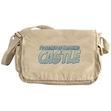 I'd Rather Be Watching Castle Canvas Messenger Bag