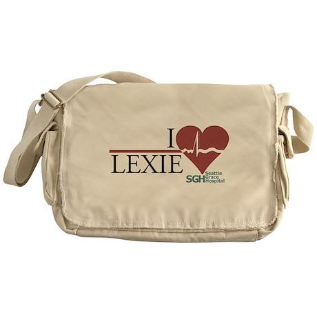 I Heart Lexie Canvas Messenger Bag