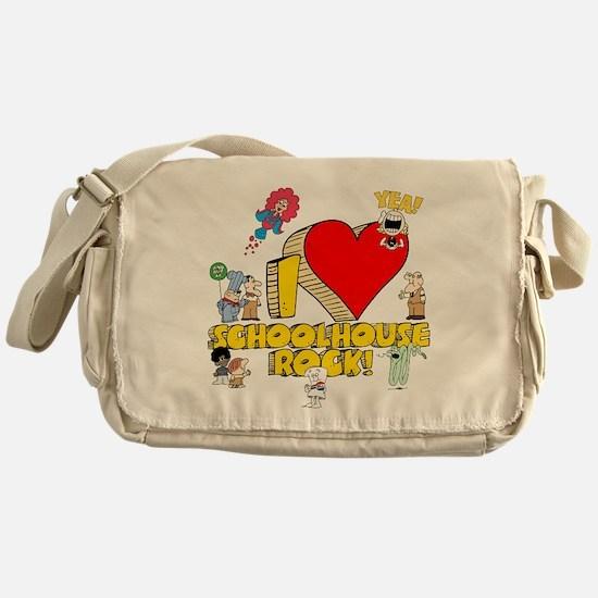 I Heart Schoolhouse Rock! Canvas Messenger Bag
