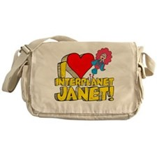 I Heart Interplanet Janet! Canvas Messenger Bag