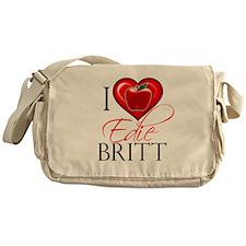 I Heart Edie Britt Canvas Messenger Bag