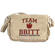 Team Britt Canvas Messenger Bag