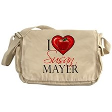 I Heart Susan Mayer Canvas Messenger Bag