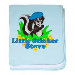 Little Stinker Steve baby blanket