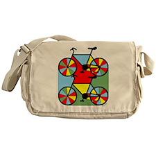 Colorful Bikes Messenger Bag