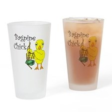 Bagpipe Chick Text Drinking Glass