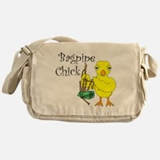 Bagpipe Chick Text Messenger Bag