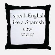 Spanish Cow Throw Pillow