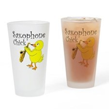 Saxophone Chick Drinking Glass