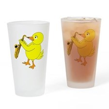 Sax Chick Drinking Glass