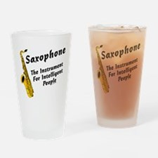 Sax Genius Drinking Glass