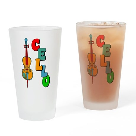 Colorful Cello Drinking Glass