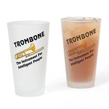 Trombone Genius Drinking Glass