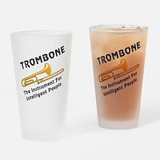 Trombone Genius Drinking Glass