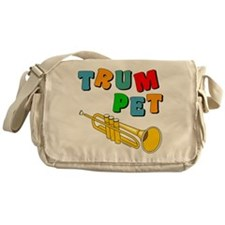 Colorful Trumpet Text Messenger Bag