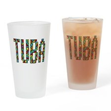 Tuba Color Blocks Drinking Glass