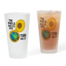 Tuba Solos Drinking Glass