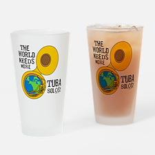 Tuba Solos Drinking Glass