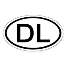 DL - Initial Oval Oval Decal